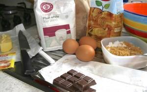 Ingrediënten voor brownies