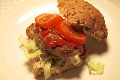 Huisgemaakte glutenvrije hamburgers